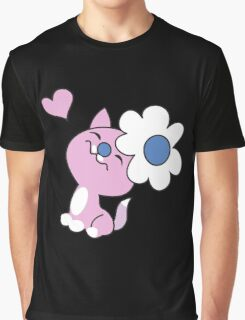 Kitty with daisy flower Graphic T-Shirt
