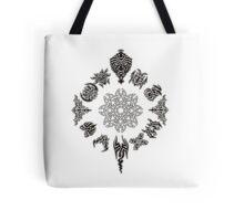 Protective Tribal Clock Tote Bag