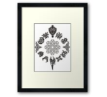 Protective Tribal Clock Framed Print