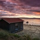 Boat Shed, Taroona Beach, Tasmania by Chris Cobern