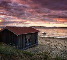 Boat Shed, Taroona Beach, Tasmania by Chris Cobern
