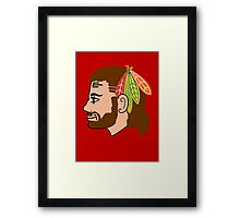 Embrace the Beard-Mullet Framed Print