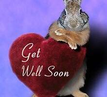Get Well Soon Bunny Rabbit by jkartlife
