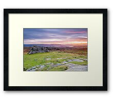 Haytor Rocks Framed Print