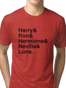 Harry & Ron & Hermione & Neville & Luna. Tri-blend T-Shirt