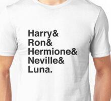 Harry & Ron & Hermione & Neville & Luna. Unisex T-Shirt