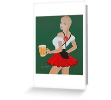 Beer wench Greeting Card