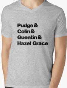 John Green's Characters Ampersand T-shirt Mens V-Neck T-Shirt