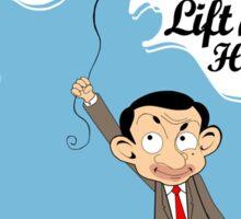 Mr. Bean in Faith Baloon Sticker