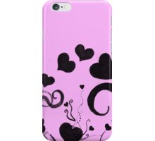 Hearts and Swirls and Ink and Pink iPhone Case/Skin