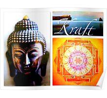Power Yantra & Buddha Poster