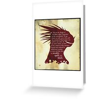 ES: Who are the Argonians? Greeting Card