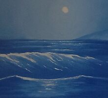 Night Seascape by Paula Desai-Rogers