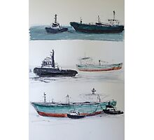 Bringing in the Ship Photographic Print