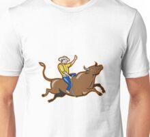 Rodeo Cowboy Bull Riding Retro Unisex T-Shirt