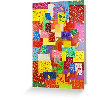 Contemporary Abstract  Greeting Card