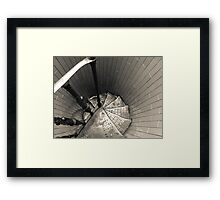 Staircases downwards Cupola (Dome) Framed Print
