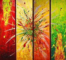 Contemporary Abstract Painting by JuliaFineArt
