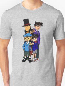 Case Closed x Professor Layton comic colours T-Shirt