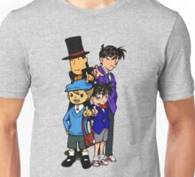Case Closed x Professor Layton comic colours Unisex T-Shirt