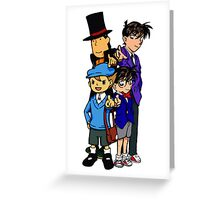 Case Closed x Professor Layton comic colours Greeting Card