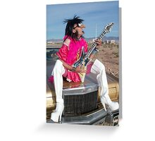 Rock Star Lady Greeting Card