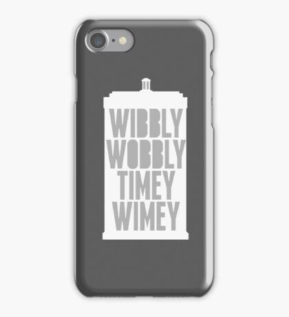 Wibbly Wobbly Timey Wimey (Grey) iPhone Case/Skin