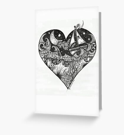 Sail away with me honey Greeting Card