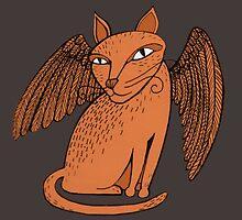 Winged cat by Neta Manor