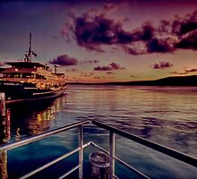 Manly ferry evening by GeoffSporne