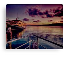 Manly ferry evening Canvas Print