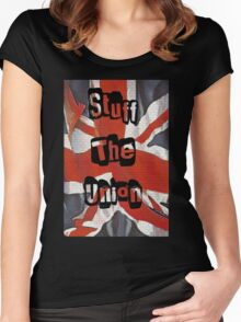 Stuff the Union Scottish Independence T-Shirt Women's Fitted Scoop T-Shirt