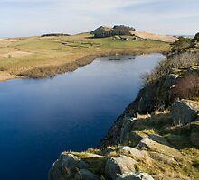 Crag Lough from Hadrian's Wall by HAPhotography