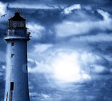Lighthouse Collaboration in Blue by DavidWHughes