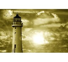 Lighthouse Collaboration in Yellow Photographic Print