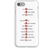 Hannibal Letters iPhone Case/Skin