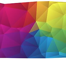 abstract colorful pattern, geometric polygon design by beakraus