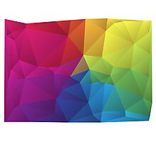 abstract colorful pattern, geometric polygon design Photographic Print