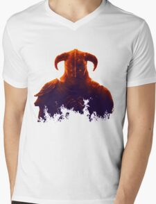 Dovakhiin in flames Mens V-Neck T-Shirt