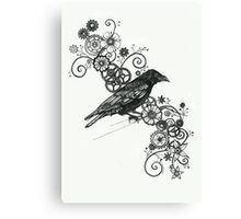Clockwork Crow Canvas Print
