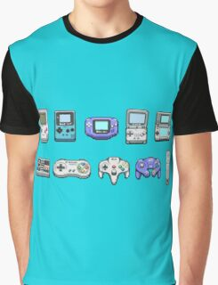 Nintendo Controller Family  Graphic T-Shirt