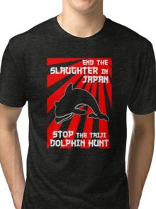 Protest the Taiji Dolphin Hunt 3 Tri-blend T-Shirt