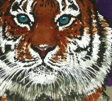 Blue Eyed Tiger Sticker
