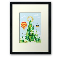 Adventure mountain Framed Print