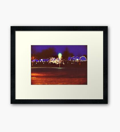 Boston Waterfront, Boston, Massachusetts Framed Print