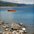 Retro Boat, Lake Tahoe by Clarkartusa