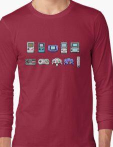 Nintendo Controller Family  Long Sleeve T-Shirt