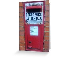 Vintage Post box, southsea, Portsmouth, England U.K. Greeting Card