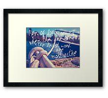 Leonardo Da Vinci Quote Poster Framed Print