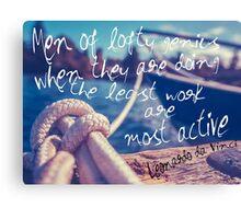Leonardo Da Vinci Quote Poster Canvas Print